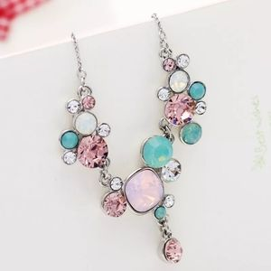 Brand new colourful crystal necklace
